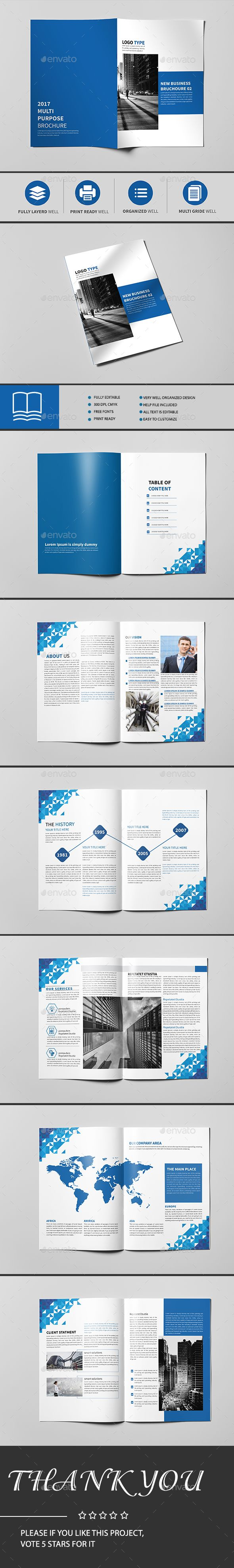 Annual Report Brochure 14 Page Template InDesign INDD