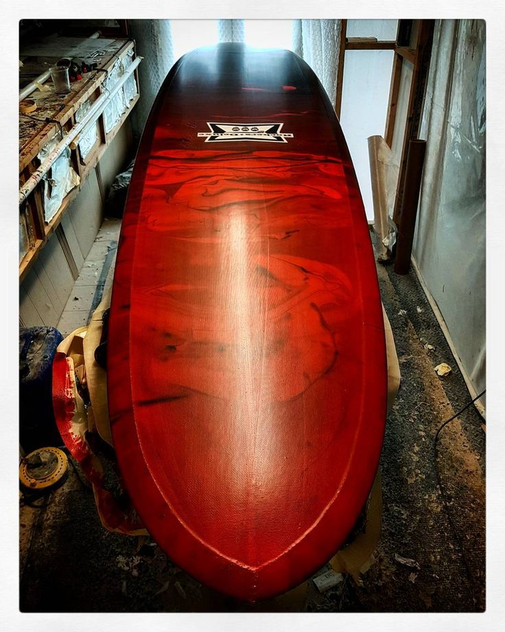 Rockers Deluxe Pig Rod with red n black resin fade. #visionary #custommade #longboard #sufboard #sufboards #madetoorder #rockersdeluxe #pigsurfboard #pig #madeinengland http://ift.tt/19MEsb6