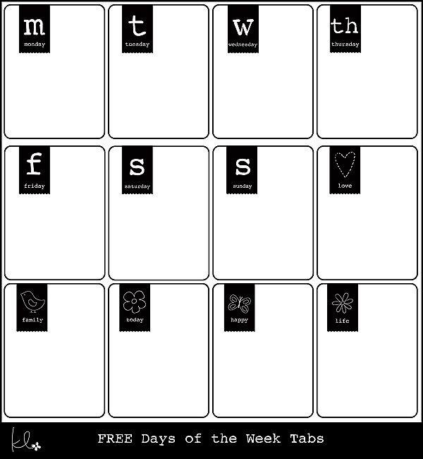 KLP tab days of the week web