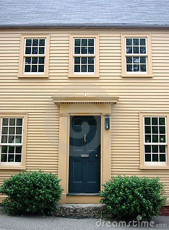Colonial House By Larry Roberg Via Dreamstime Front