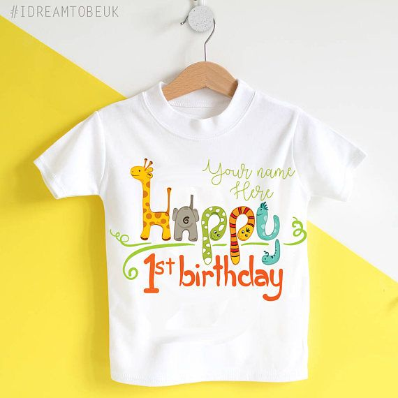 Hey, I found this really awesome Etsy listing at https://www.etsy.com/uk/listing/524682665/1st-birthday-personalised-tshirt-jungle