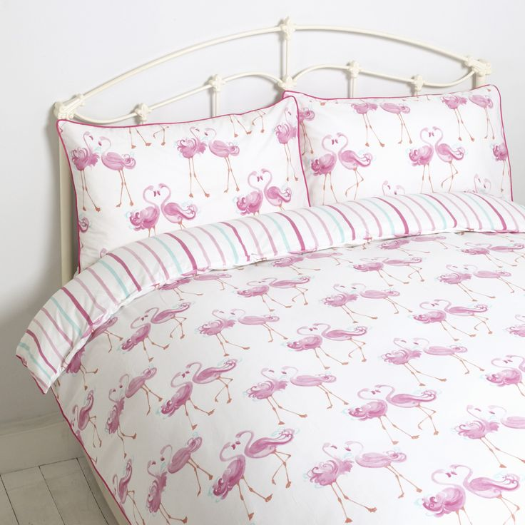 laura ashley flamingo double bedset sweet dreams. Black Bedroom Furniture Sets. Home Design Ideas