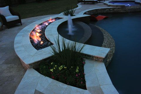 9 best images about outdoor fireplaces fire pits fire for Fire and water features