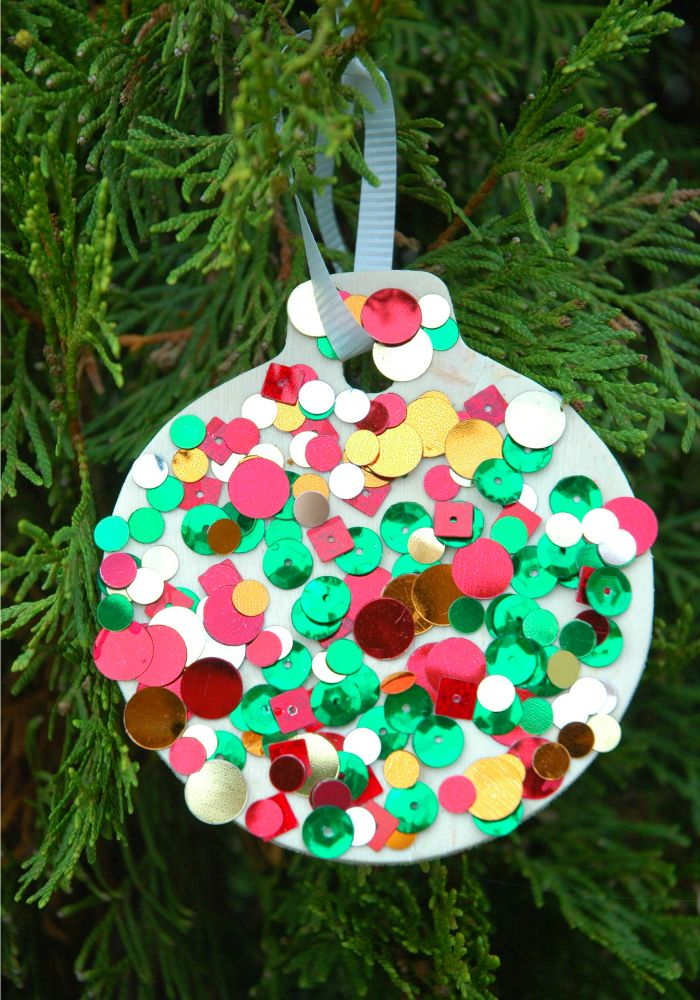 Sequin Ornaments Kids christmas ornaments, Christmas