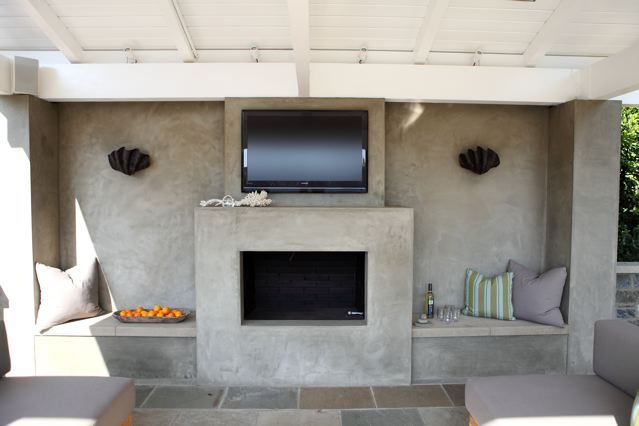 Smooth Stucco Fireplace Dig Fireplaces In 2019 Stucco