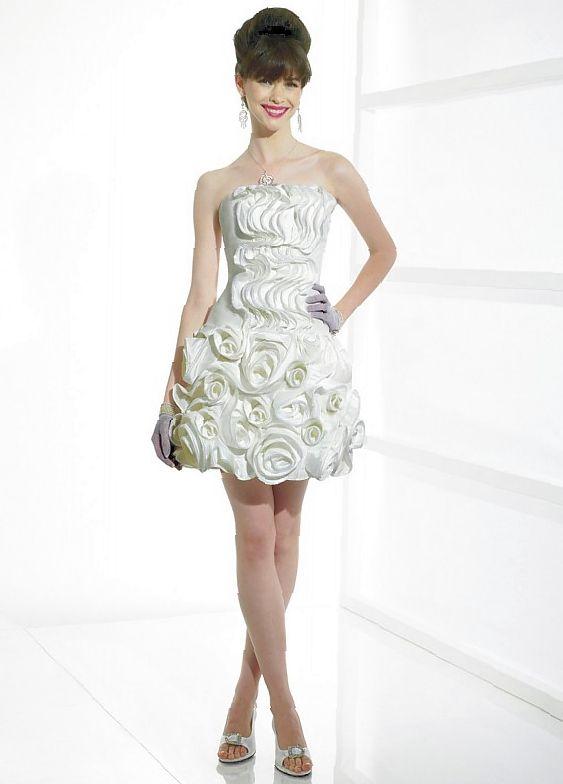 Short informal funky wedding dress
