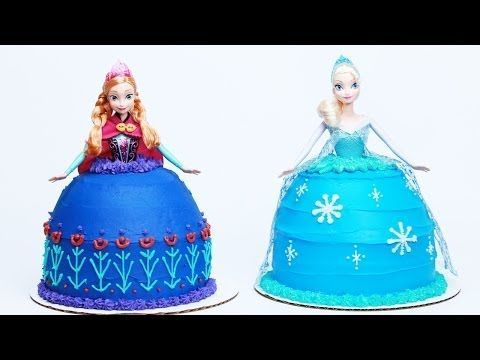 HOW TO MAKE A FROZEN PRINCESS CAKE - NERDY NUMMIES @Laura Montes Morse  @Jennifer Henneman