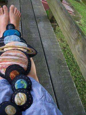 A Felt Solar System - this site has some beautiful hand made educational felt toys