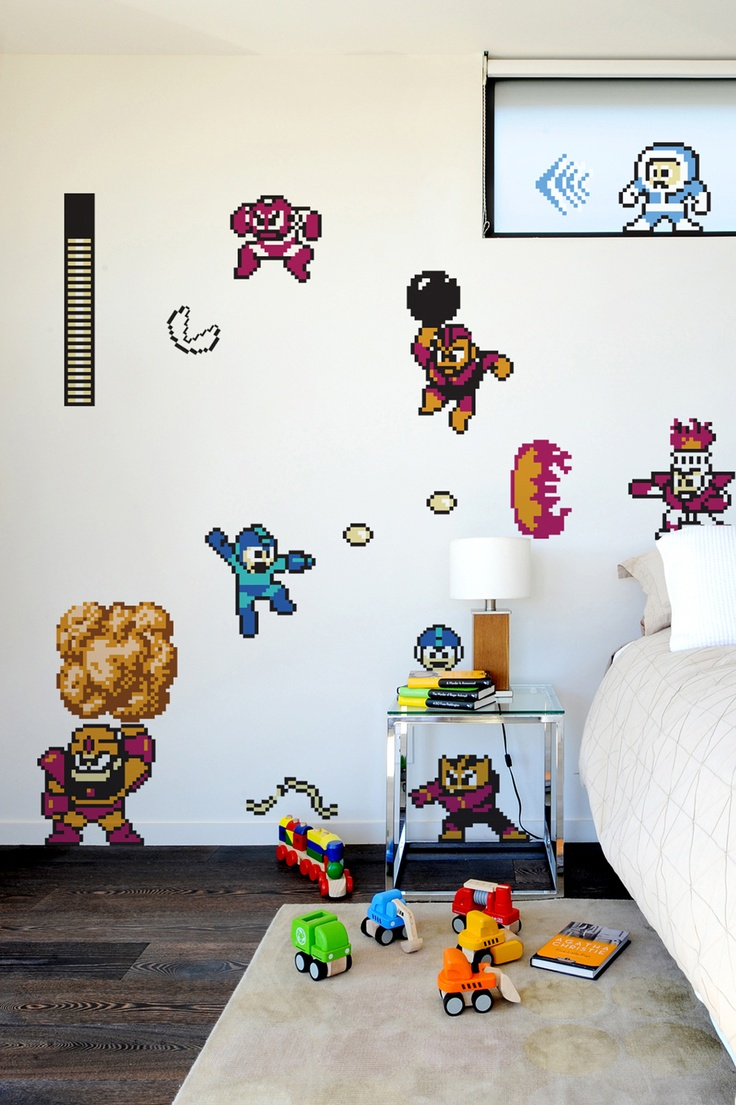 1566 best jack s pins images on pinterest super mario bros save yourself a paint job and get your kids excited about decorating their own room the mega man wall decal set of graphics is made with moveable