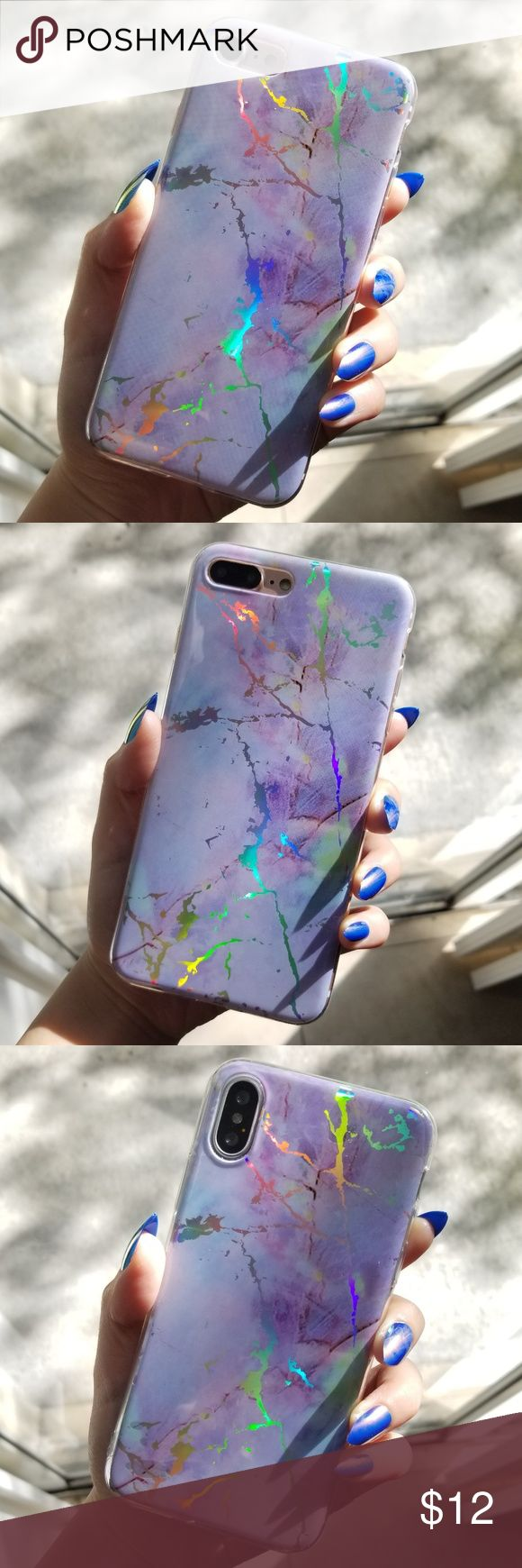 iPhone Purple Holo Marble Case Brand new  Available for :  iPhone 5 iPhone 5s iPhone SE iPhone 6 iPhone 6s iPhone 6 Plus iPhone 6s Plus  iPhone 7 iPhone 7 Plus iPhone 8 iPhone 8 Plus iPhone X Accessories Phone Cases
