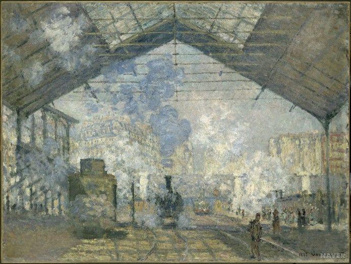 [증기선과 기차] <생 라자르 역> - 클로드 모네: 19세기에 있어 기차역은 단순히 기차를 타고 내리는 장소만이 아니라 과학 문명과 진보를 상징하는 곳이었다. 모네는 기차역을 자세히 관찰하고자 기차역 인근에 집을 얻어 십 여 점에 달하는 기차역 그림을 제작했다.