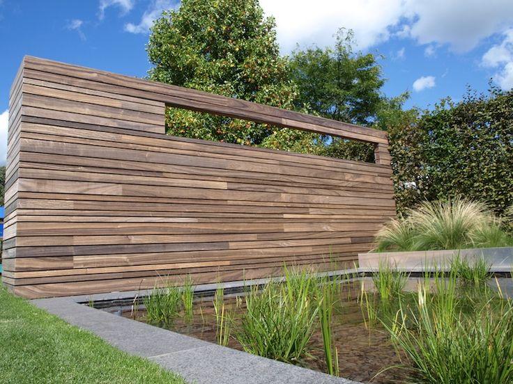1000 idee n over houten omheining poorten op pinterest for Moderne afsluiting tuin