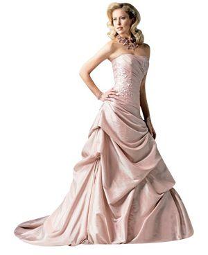 Pink wedding dress: JSM1136 by Sottero and Midgley, sotteroandmidgley.com, MSRP $1000