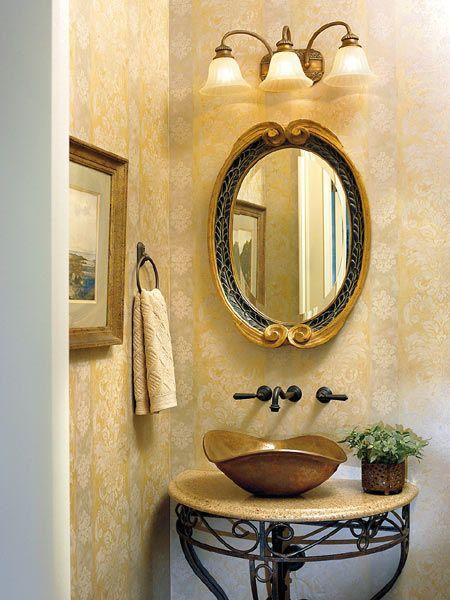 33 best Powder Room Ideas images on Pinterest | Bathroom, Bathrooms ...
