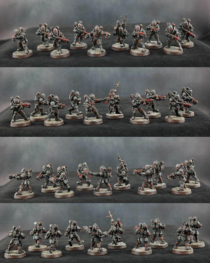 Warhammer 30k   Horus Heresy   Solar Auxilia   Veletaris Storm Section - Squad Alpha   1905th 'Rust Scorpions'