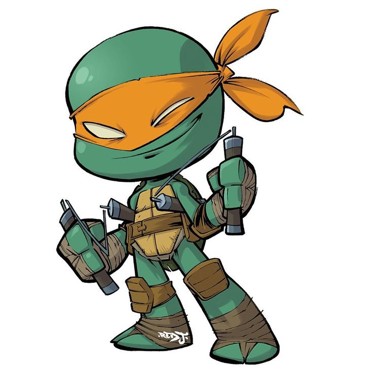 Heres mikey ive made a set of tmnt chibi stickers you can pre order them now from my online store and they should be ready to ship out in about a week