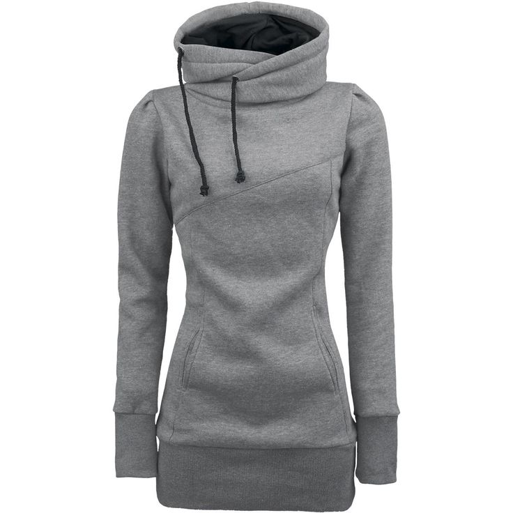 The ultimate hoodie:long length, long sleeves, and covers the neck!