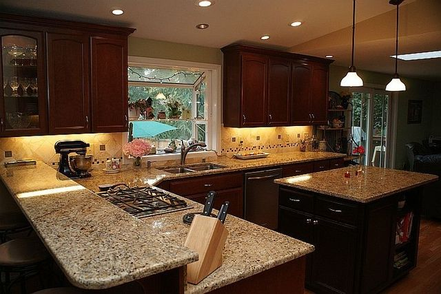 Venitian Gold Granite With Back Splash New Venetian Gold