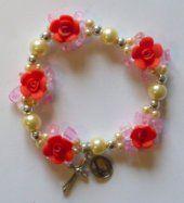 Elastic Red Rose Apparition Bracelet.