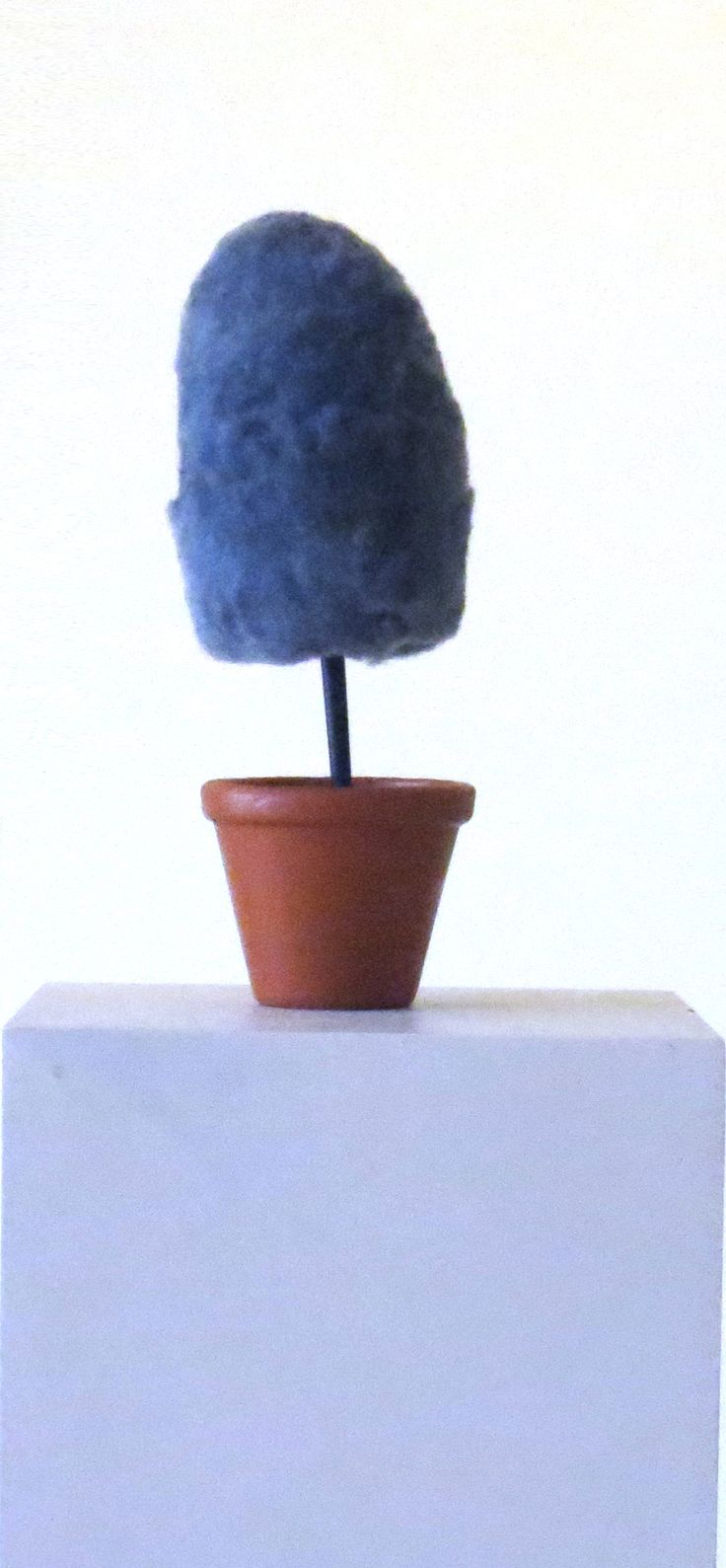 74. Kiran Shah - Untitled - dyed polyester, wood, terracotta pot, plaster, acrylic paint Price upon request.
