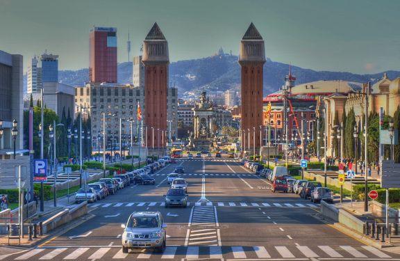 The Venetian Towers and Placa de Espanya
