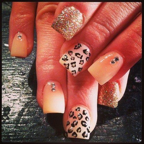 Cheetah print - Pink - Gold sparkles
