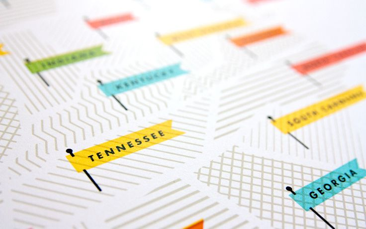 Map detail - http://shop.thesearethings.com/collections/frontpage/products/american-flags-map