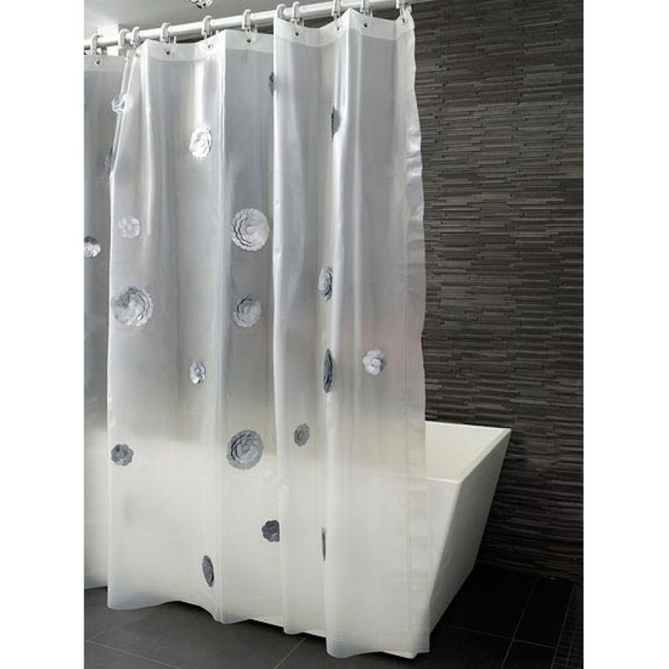 Beautiful Bathroom Design With Modern Shower Curtains : Happiness Silver  Petals Shower Curtain Modern Shower Updating The Shower Curtain For Modern  Bathroom