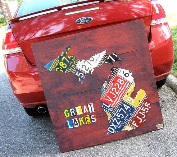 @Design Turnpike on etsy. license plate art