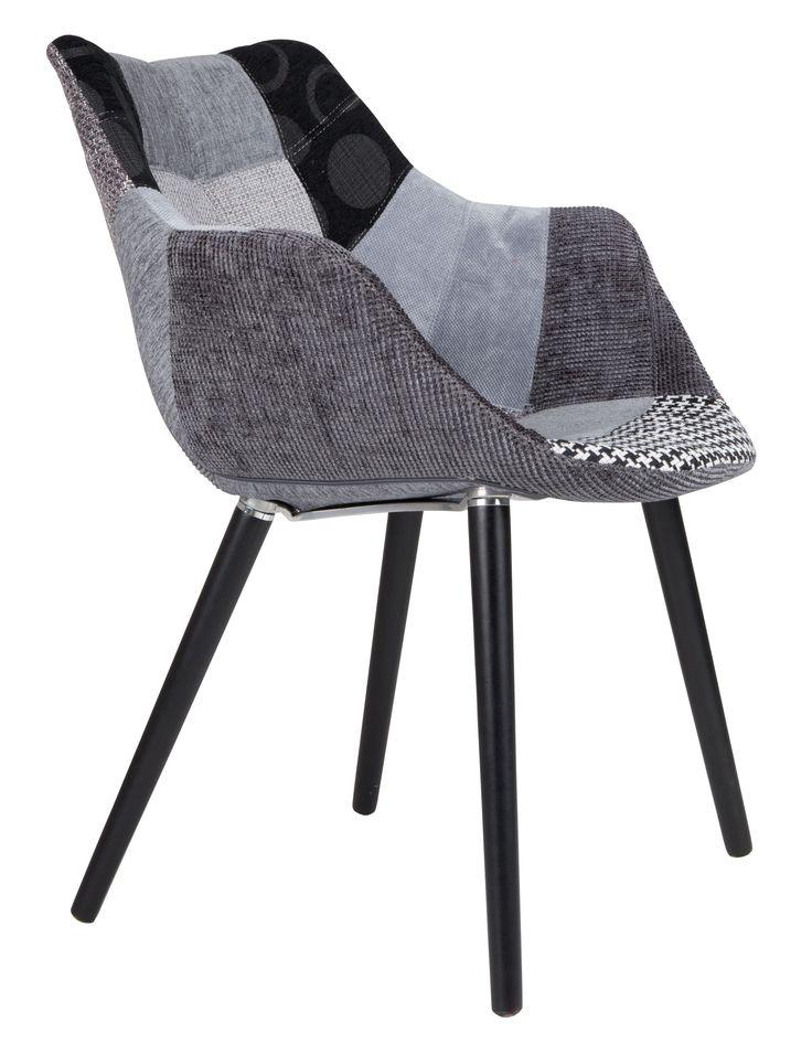 Twelve stoel Patchwork grijs - Zuiver
