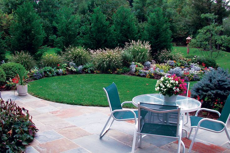 http://statebystategardening.com/images/uploads/article_uploads/12Apr_W3-A_1b.jpg: Gardens Beds, Landscape Around Patio, Patio Idea, Backyard Idea, Gardens Idea, Outdoor Patio, Lane Landscape, Gardens Landscape, Back Yard