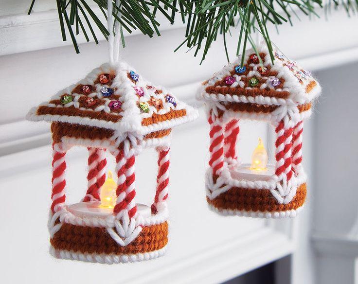 Gingerbread Lantern Ornaments Plastic Canvas Kit