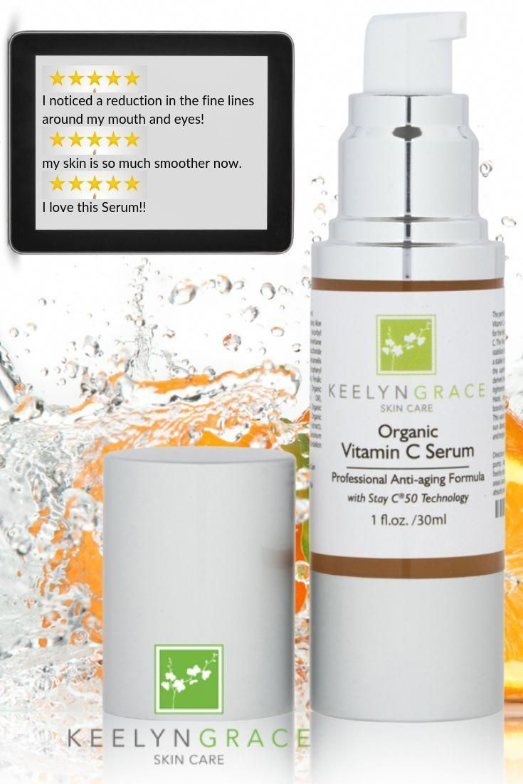 The Reason That Both Men Women Adore Our Keelyn Grace Organic Vitamin C Serum Is Because It Works When In 2020 Anti Aging Skin Products Organic Vitamins Skin Care
