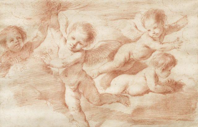 Giovanni Francesco Barbieri, called il Guercino (Cento 1591-1666 Bologna) A study of putti for the Madonna del Rosario, Osimo