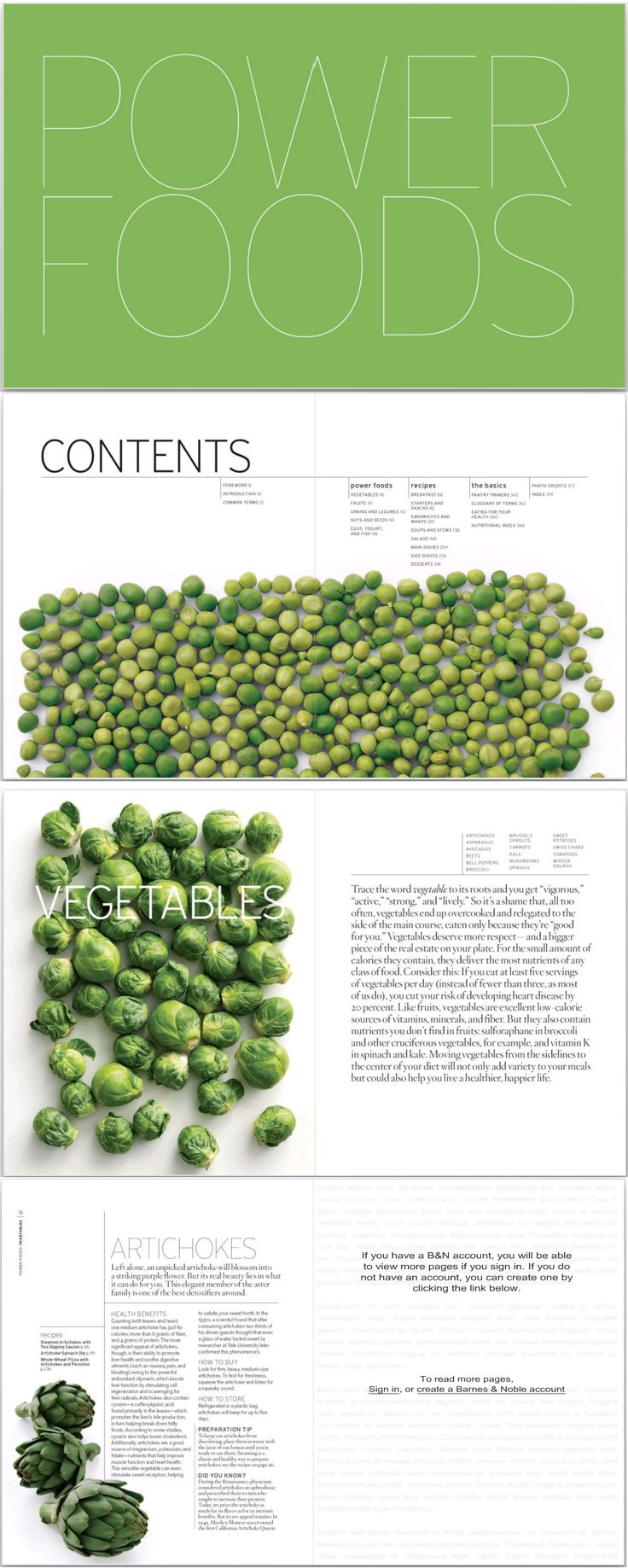 Editorial layouts from Power Foods