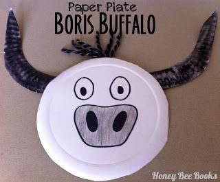Paper Plate Boris Buffalo from The Very Brave Bear by Nick Bland.
