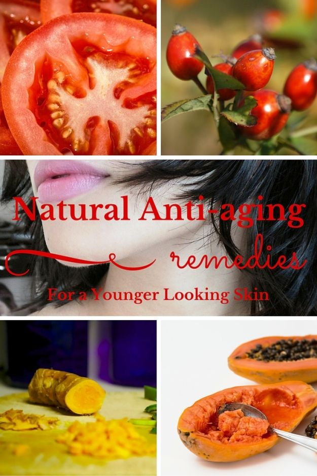 Natural Anti-aging Remedies for a Younger Looking Skin - If you're looking for natural products that can give you a vibrant, fresh and younger looking skin, this article may help. #foodsforskin