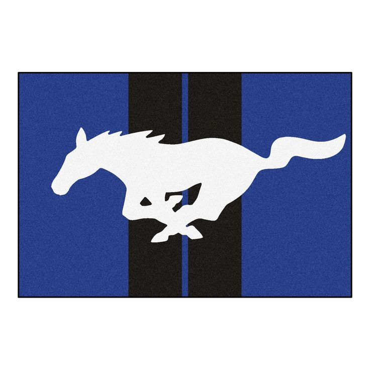 Mustang Horse Rug 5x8 - Blue