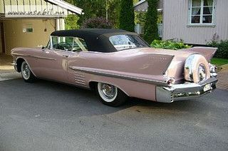 1958 Cadillac Series 62 Convertible with continental kit