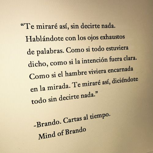 Brando. Cartas al tiempo.