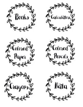 I don't know about you, but I love being organized and I love labels! So I have made some cute classroom labels to help get organized for the next school year! Labels Include:PencilsCrayonsMarkersPaperColored PaperLined PaperScissorsiPadsCalculatorsTables 1-6GluePaintHighlightersHomeworkLate WorkNeeds GradingGradedLesson PlansTimersFile FoldersFine Motor SuppliesTracing WorksheetsMath ManipulativesDataStickersBooks TapeRulersColored Pencils SharpiesPost-ItsTissuesHand…
