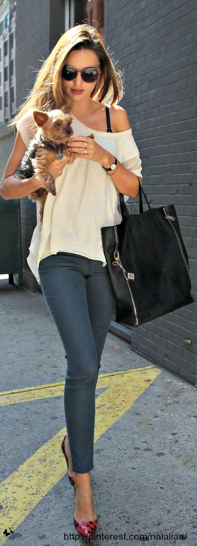Street style - Miranda Kerr - Celine bag <3 na
