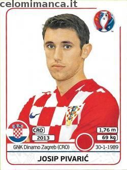 UEFA EURO 2016™ Official Sticker Album: Fronte Figurina n. 444 Josip Pivarić