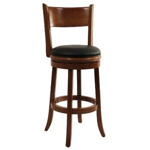 Boraam 45129 Palmetto Swivel Stool, 29-Inch, Fruitwood
