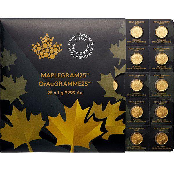 Buy Maplegram 25 1 Gram Gold Maple Leaf Coins For Sale Silver Bullion Coins Gold Bullion Gold Coins