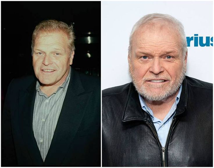 Brian Dennehy's eyes color - blue and hair color -  salt and pepper
