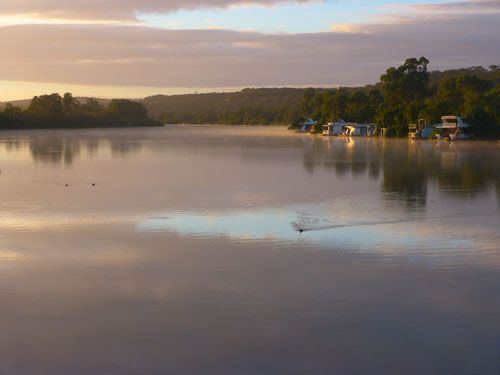 Sunrise on the Murray River, South Australia