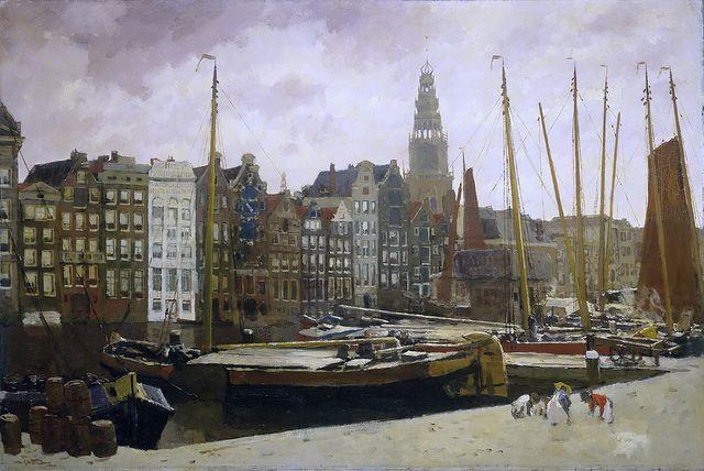 George Hendrik Breitner - The Damrak in Amsterdam [c.1903]   Flickr - Photo Sharing!