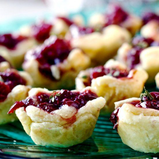 Cranberry Raspberry Brie Bites are quick easy, nutritionally balanced, vegetarian, low sodium appetizer. Perfect for a holiday crowd!