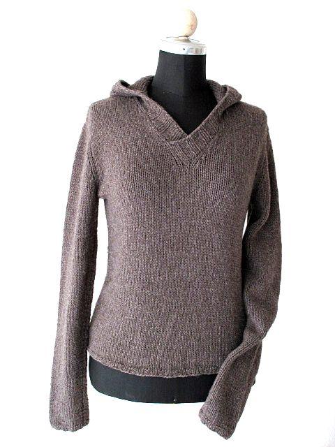 hand knitted hooded sweater handgestrickter Kaputzenpullover